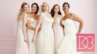 An example of the products offered by David's Bridal